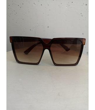 Sunglasses square big, Brown
