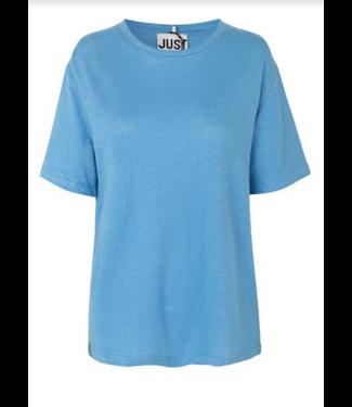 Just Female T-shirt Bangkok tee, Silver lake blue