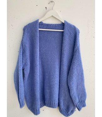 Cardigan knitted midi, lavender