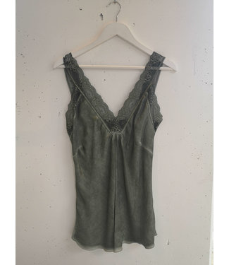 Singlet big lace, Army green