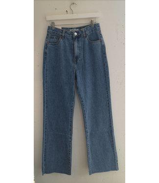Jeans wide leg long, Vintage blue