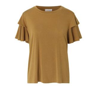 Second female T-shirt Valencia, Bronze brown