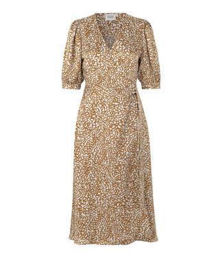 Second female Wrap dress Granada, Bronze brown