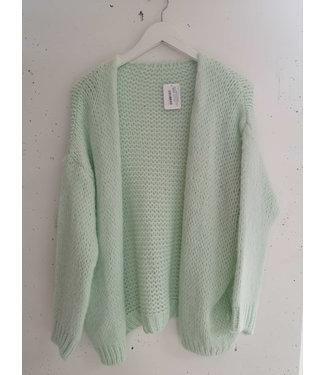 Gardigan Knitted, Midi, Mint