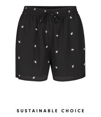 Just Female Shorts Same, Black seed aop