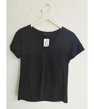 T-shirt basic V, Black