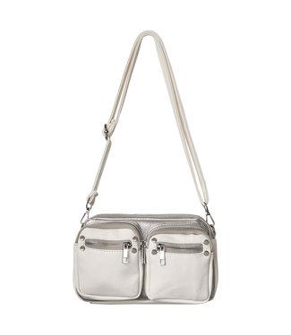Bag zipper details, White silver