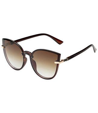 Sunglasses round cateye, brown