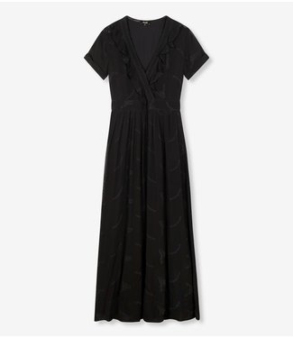 ALIX the label Dress embroidery chiffon, Black