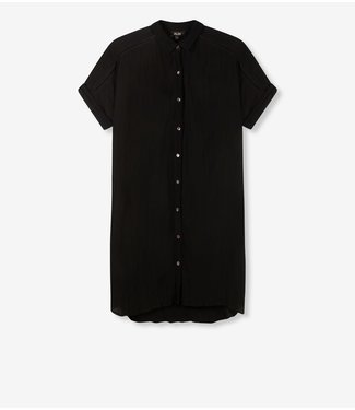 ALIX the label Dress lurex stripe crinkle tunic, Black