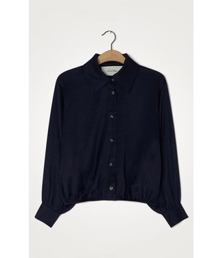 American Vintage Blouse WID06C, Navy blue