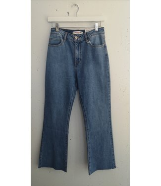 Jeans cropped flair, Blue