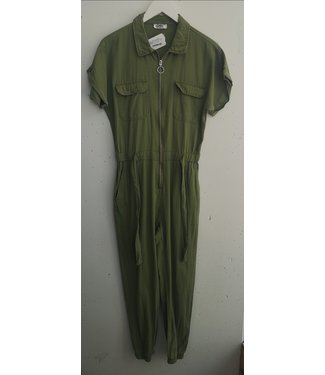 Jumpsuit cotton, Light army green