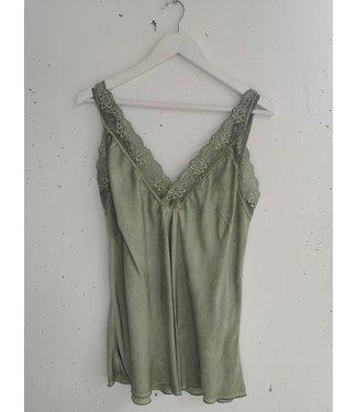 Singlet big lace, Light green