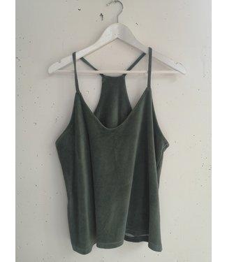 Singlet fluffy cotton, Army green