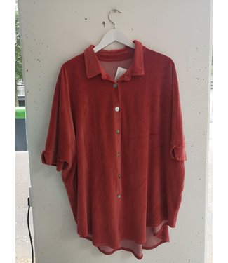 Blouse fluffy cotton, Vintage red