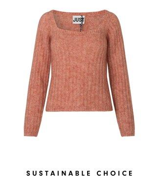 Just Female Lytt knit blouse, Ginger spice
