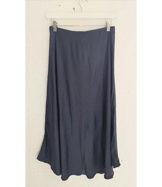 Skirt silk, Navy blue