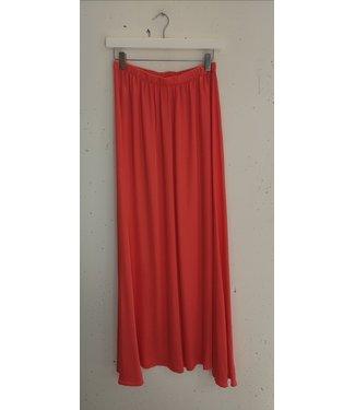 Skirt long satin, Pink orange