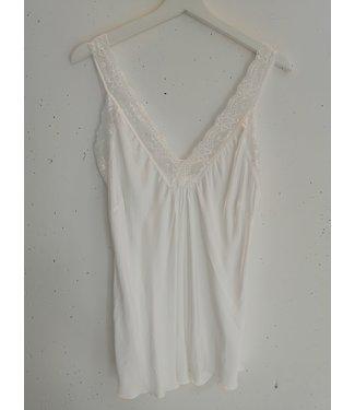 Singlet big lace, White