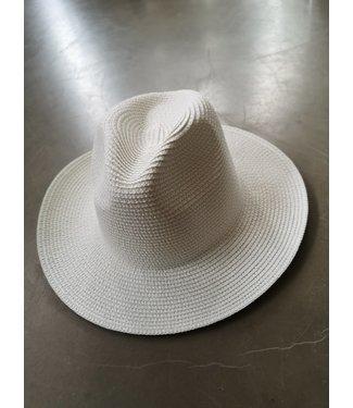Straw hat, White