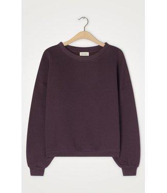 American Vintage Sweater IKA03CH21, Aubergine