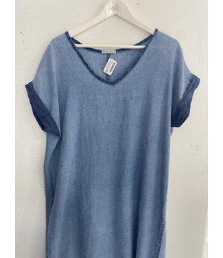 Tunic dress linnen, Vintage blue