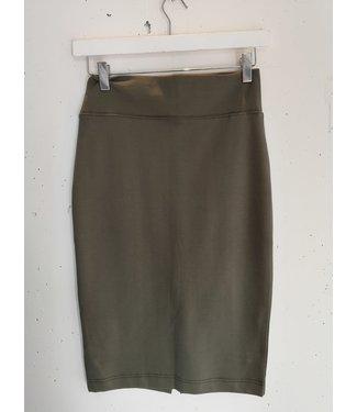 Skirt pencil elastic, Khaki,