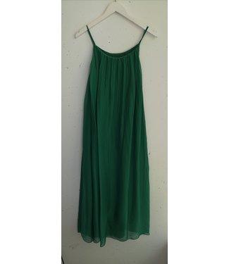 Dress singlet silk, Grass green