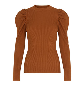 Second female Shirt Canillu knit O-neck, Argan Oil