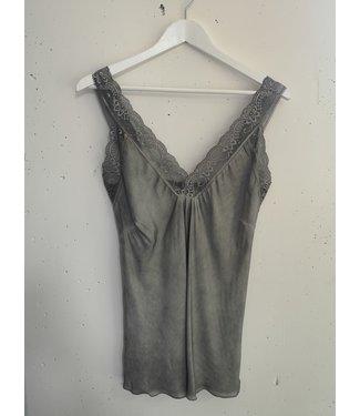 Singlet big lace, Grey
