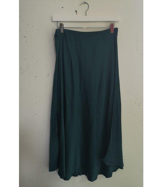 Silk skirt, Petrol