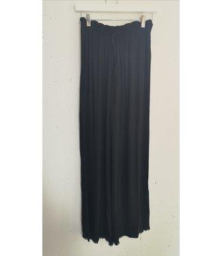 Pants wide silk, Black