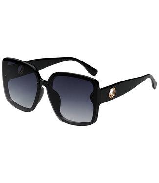 Sunglasses big  round square, Black