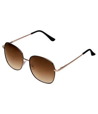 Sunglasses oval steel, Brown