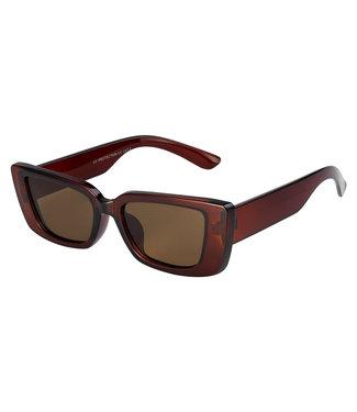 Sunglasses small straight, Brown
