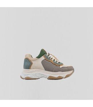 BRONX Sneaker BAISLEY, Off white/Sage Green/Grijs