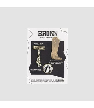 BRONX Archive pins no.3, Gold plated