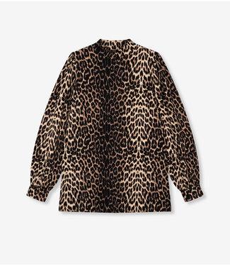 ALIX the label Ladies knitted animal turtleneck top, Animal