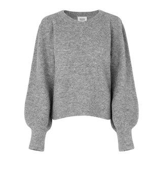 Second female Sweater Kalliroi knit O-neck, Grey melange