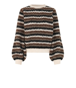 Second female Sweater Yolanda knit O-neck, Black