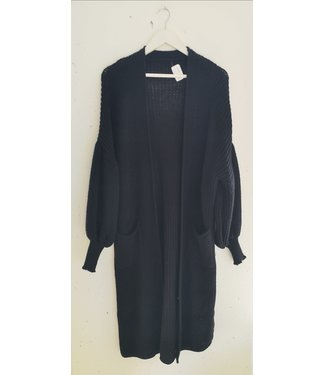 Cardigan maxi bell sleeve, Black