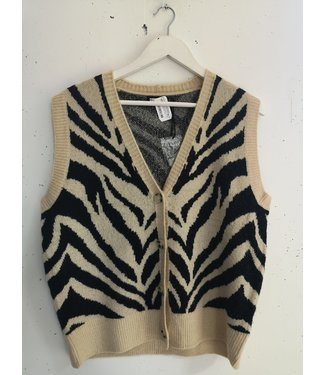 Spencer Zebra, Beige zwart