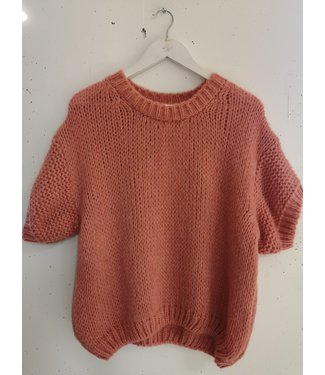 Sweater tee knitted, Pink