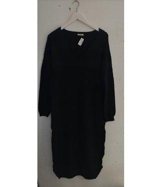 Dress sweater V neck maxi, Black
