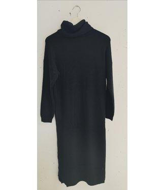 Dress sweater col maxi, Black
