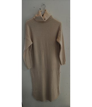 Dress sweater col maxi, Beige
