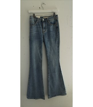 Jeans flared light denim, Blue