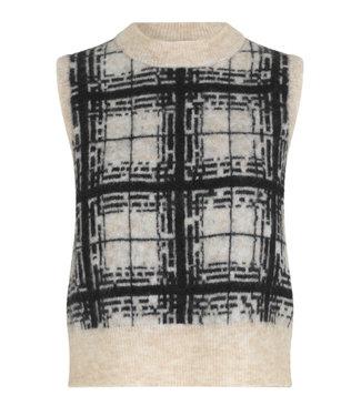 Second female Specer knit vest Louisa, Black