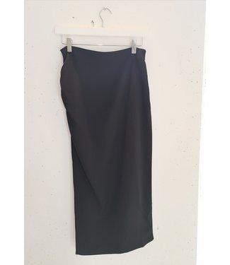 Skirt waterfall split, Black